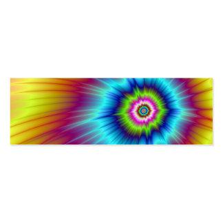 Tarjeta del cometa del arco iris tarjetas de negocios