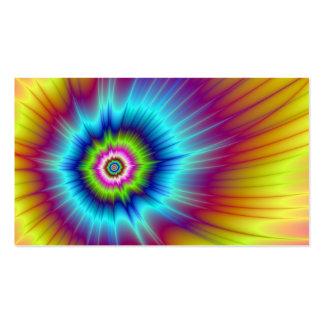Tarjeta del cometa del arco iris tarjetas de visita
