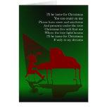 Tarjeta del Concierto-Navidad del piano
