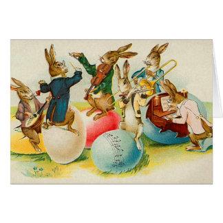 Tarjeta del conejito de pascua del Victorian