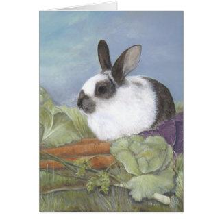Tarjeta del conejo de conejito