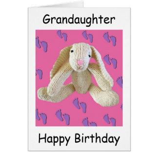 Tarjeta del conejo de conejito del cumpleaños de G