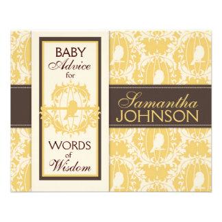 Tarjeta del consejo del bebé del pío del pío tarjetas informativas