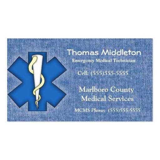Tarjeta del contacto del ccsme/de EMT Tarjeta De Visita