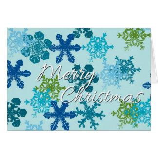 Tarjeta del copo de nieve de las Felices Navidad