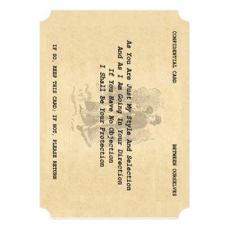 """Tarjeta del coqueteo del caballero (soporte 5"""" x invitación 5"""" x 7"""""""