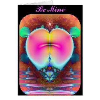 Tarjeta del corazón 2 del fractal