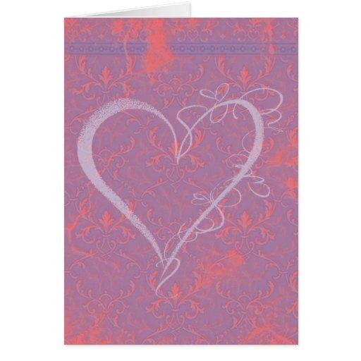 Tarjeta del corazón de la tarjeta del día de San V