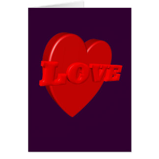 Tarjeta del corazón del amor