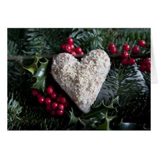 Tarjeta del corazón del navidad
