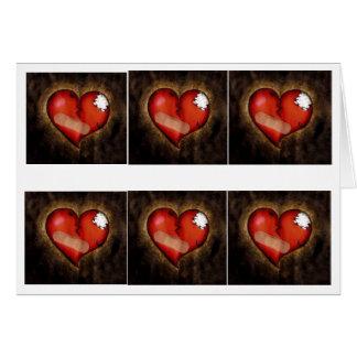 Tarjeta del Corazón-saludo del corazón quebrado de