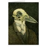 Tarjeta del cráneo del cuervo