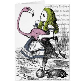 Tarjeta del croquet del flamenco