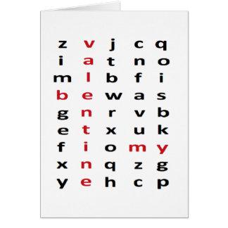 Tarjeta del crucigrama de la tarjeta del día de Sa