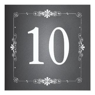 Tarjeta del cuadrado del número de la tabla del invitación 13,3 cm x 13,3cm
