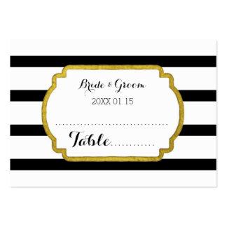 Tarjeta del cubierto de la tabla del boda de la tarjetas de visita grandes
