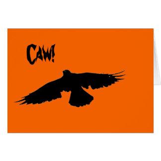 Tarjeta del cuervo de Halloween