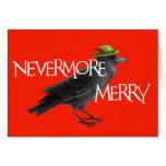 Tarjeta del cuervo del navidad