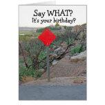 Tarjeta del cumpleaños de los Tarjeta-Hombres dive