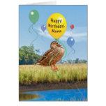 Tarjeta del cumpleaños de Nana con el pato y los g