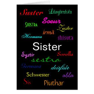 """Tarjeta del cumpleaños de una hermana"" - personal Tarjeta De Felicitación"