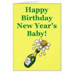 Tarjeta del cumpleaños del Año Nuevo