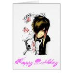 tarjeta del cumpleaños del chica