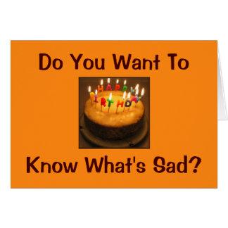 Tarjeta del cumpleaños del perfeccionista