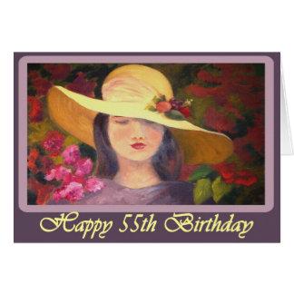 Tarjeta del cumpleaños feliz de la diva 55.a para