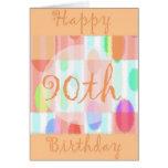 Tarjeta del cumpleaños feliz de la diva 90.a
