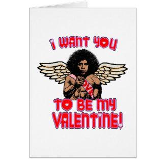 Tarjeta del Cupid de Obama