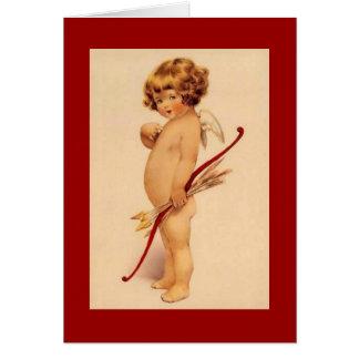 Tarjeta del Cupid del vintage