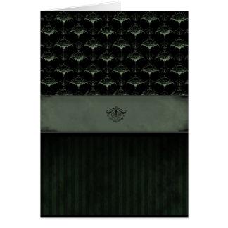 Tarjeta del damasco del palo - musgo oscuro