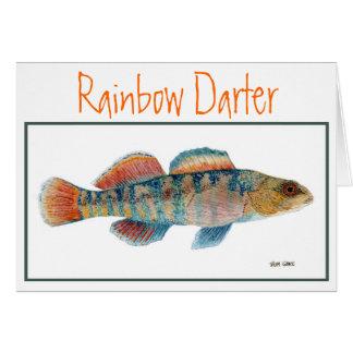 Tarjeta del Darter del arco iris