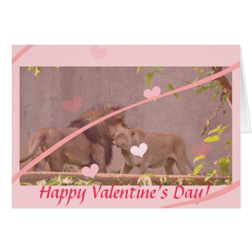 Tarjeta del day_Lion de la tarjeta del día de San