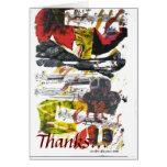 Tarjeta del de agradecimiento de la canción del ot