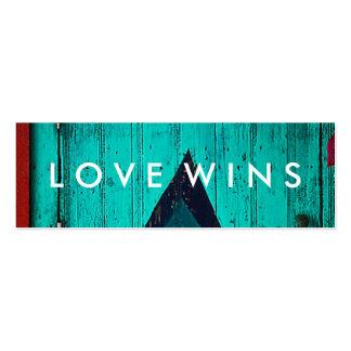 Tarjeta del desafío de los triunfos del amor tarjetas de visita mini