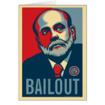 Tarjeta del desalojo urgente de Ben Bernanke
