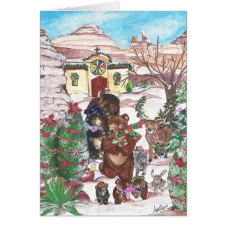 Tarjeta del desfile del navidad de Feliz Navidad
