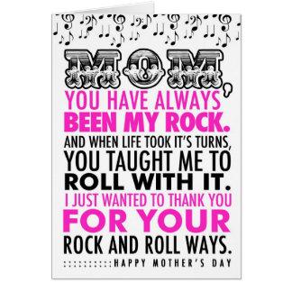 Tarjeta del día de 311 madres del rock-and-roll