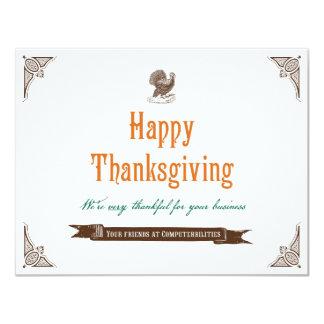 """Tarjeta del Día de Acción de Gracias Invitación 4.25"""" X 5.5"""""""