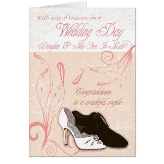 Tarjeta del día de boda de la hija con amor