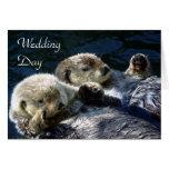 tarjeta del día de boda de las Mar-nutrias