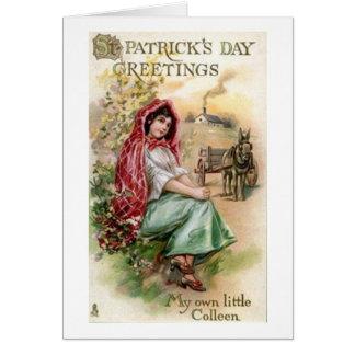 Tarjeta del día de Colleen St Patrick del Victoria