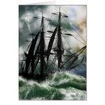 Tarjeta del día de Colón con la nave pintada Digit
