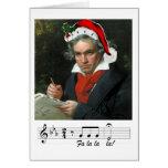 Tarjeta del día de fiesta de Beethoven