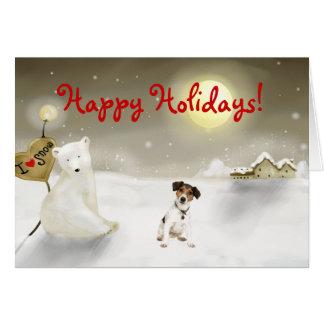 Tarjeta del día de fiesta de Jack Russell Terrier