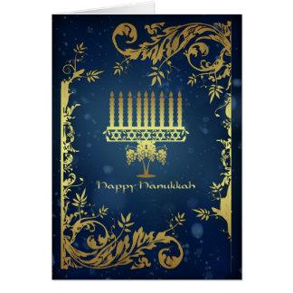 tarjeta del día de fiesta de Jánuca con el menorah