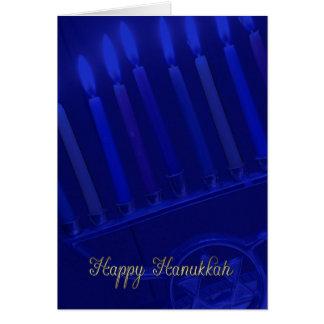 tarjeta del día de fiesta de Jánuca con las velas
