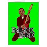 Tarjeta del día de fiesta de la banda de Barack